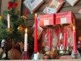 アンティークランプ クリスマスハリケーンチムニー卓上照明テーブルライト