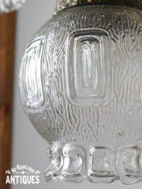 画像2: USAヴィンテージクリアガラススワッグランプ/アンティークライト