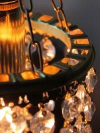 画像2: USAヴィンテージ真鍮レースオクタゴンプリズムミニシャンデリア