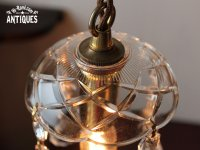 画像3: USAヴィンテージガラス製フレンチカットプリズムミニシャンデリア/アンティークランプ