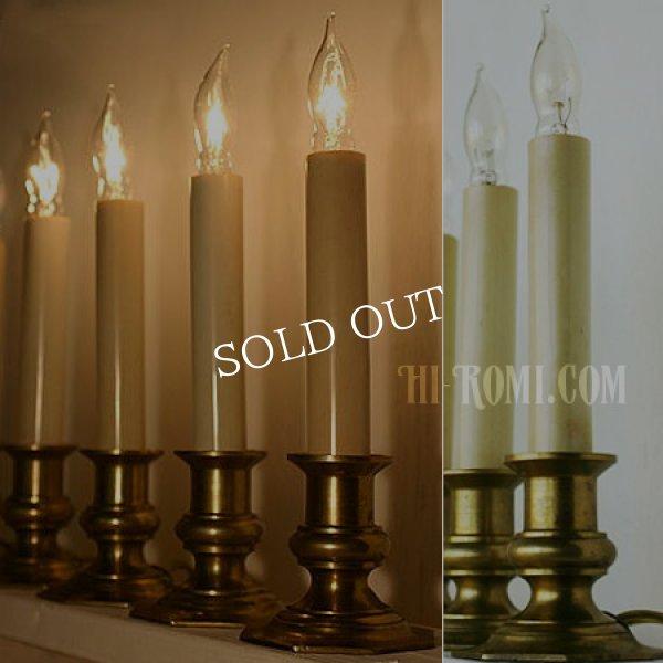 画像1: アメリカンヴィンテージ|チャーチキャンドルライト教会卓上照明 (1)