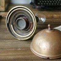 画像3: 真鍮クリップシェード付き壁掛兼用卓上照明 ヴィンテージライト