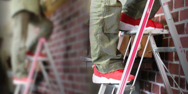 安定の良い踏み台を用意