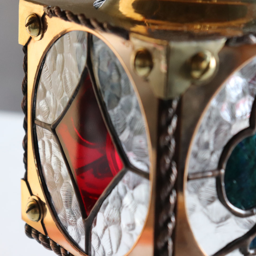 ステンドグラス・トランプペンダントライト天井吊り下げ照明|stained glass pendant light playing cards